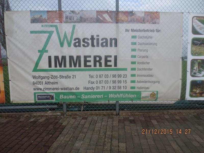 Sportheim Altheim - Firmen / Zimmerei Wastian
