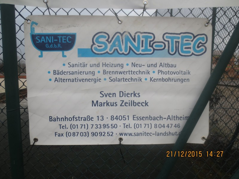 Sportheim Altheim - Firmen / Sanitec
