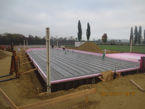SV Altheim - Vorbereitungen für die Bodenplatte des neues Sportheims