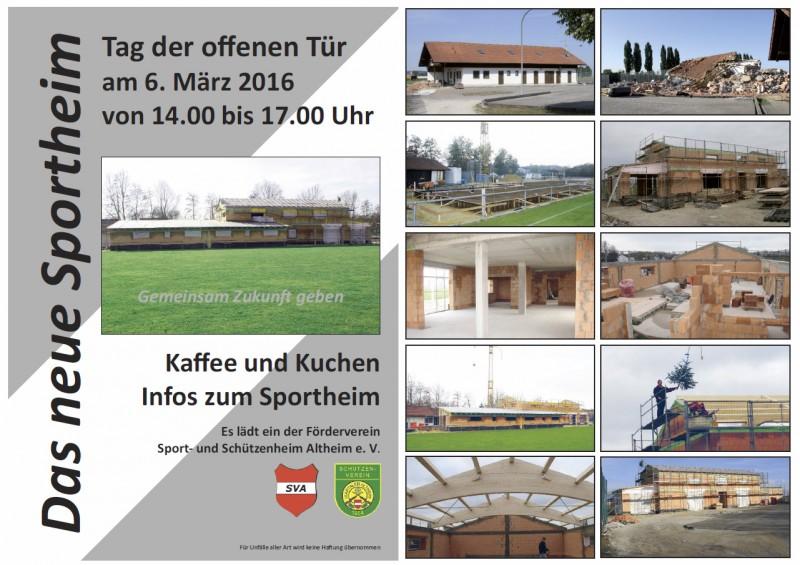 Tag der offenen Tuer 2016 - Sportheim Altheim