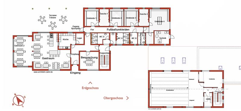 Sportheim Altheim - Plan