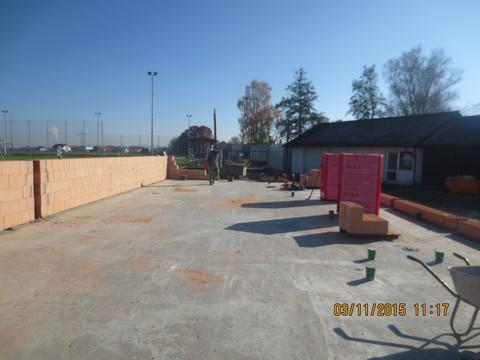 Die ersten Mauern des neuen Vereinsheims - SV Altheim
